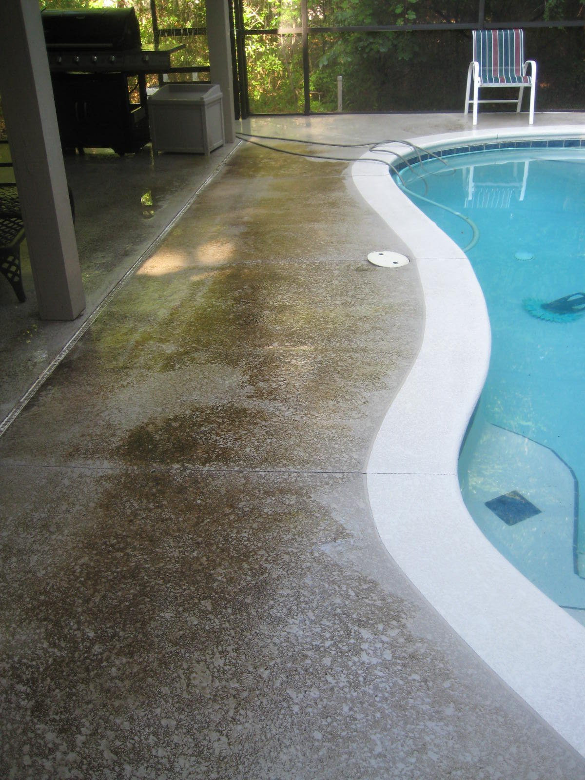 Pre_Pressure Washing Pool Deck