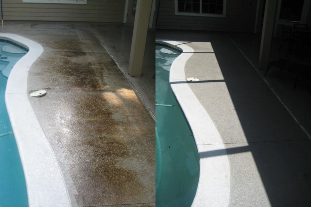 Pressure washing pool deck Gainesville, FL