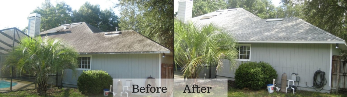 pressure washing before and after gainesville florida